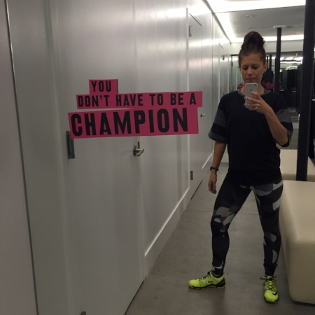 "New York City - Fall 2015. A selfie moment during a ""Train the Trainers"" Nike Conference."
