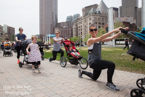 Boston, MA - May 2015. Leading my JPPilates Stroller Bootcamp class in downtown Boston, sponsored by Safety1st. An amazing class and collaboration that never would have been born without saying yes to that first mom and baby class.