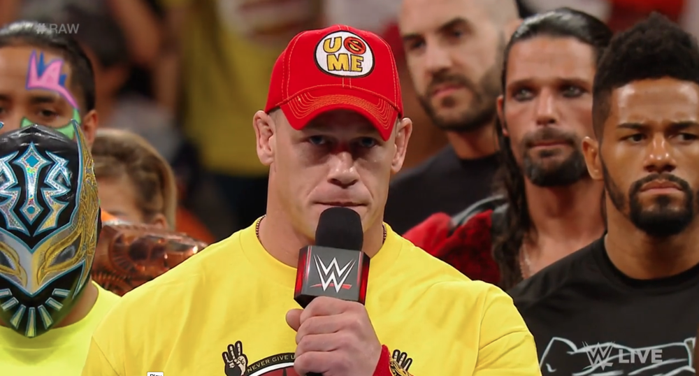 John Cena mournfully addresses the WWE fans about the return of The Authority.