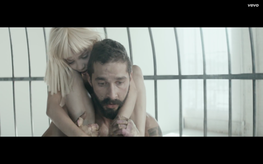 Shia Labeouf and Maddie Ziegler come to peace in Elastic Heart.