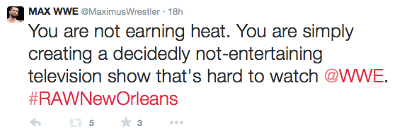 Not my finest moment. But indicative of what it feels like to watch RAW sometimes.