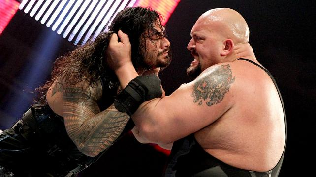 Roman Reigns and The Big Show embroiled in conflict.