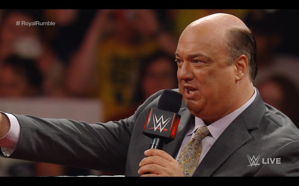 Paul Heyman on Monday Night Raw, providing context to the situation.