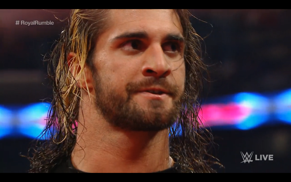 Seth Rollins, victorious on Monday Night Raw.