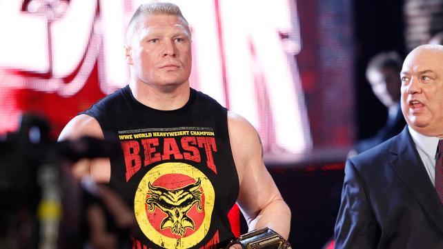 Brock Lesnar with Paul Heyman.