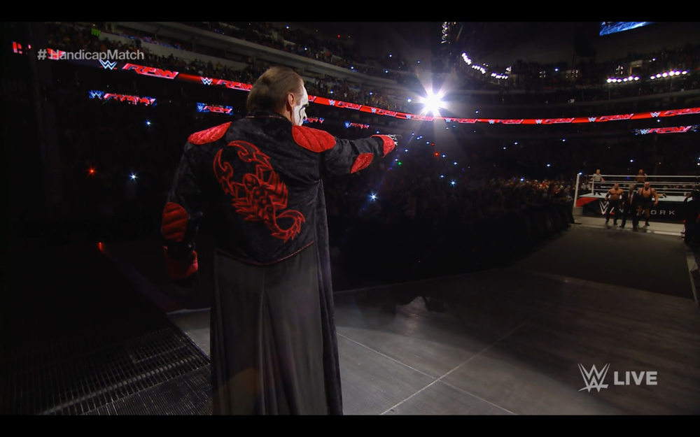 Sting points at The Authority, an image that tells a story all its own.
