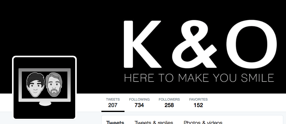 Kyle & Oliver's beautifully simple logo and channel art.