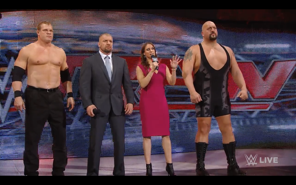 The Authority. Interrupting a promo. Making a lopsided match.