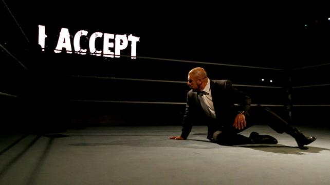 Sting accepts Triple H's challenge to go face to face at Fastlane.