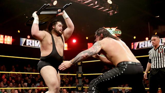 Baron Corbin sets up giving Bull Dempsey The End of Days.