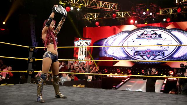 Sasha Banks wins the NXT Women's Championship.