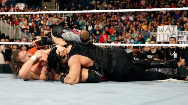 Daniel Bryan and Roman Reigns brawl in convincing fashion.