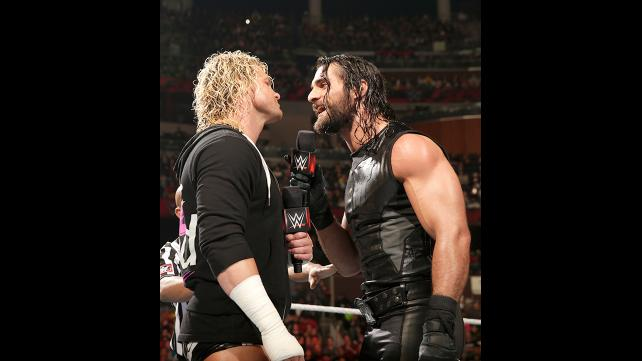 Seth Rollins dominates Dolph Ziggler on the mic.