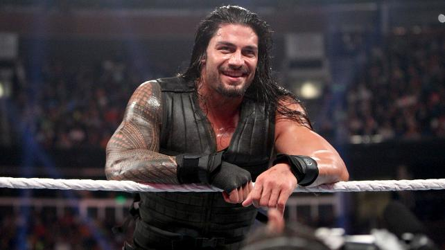 Roman grins at Daniel who goads him at commentary.