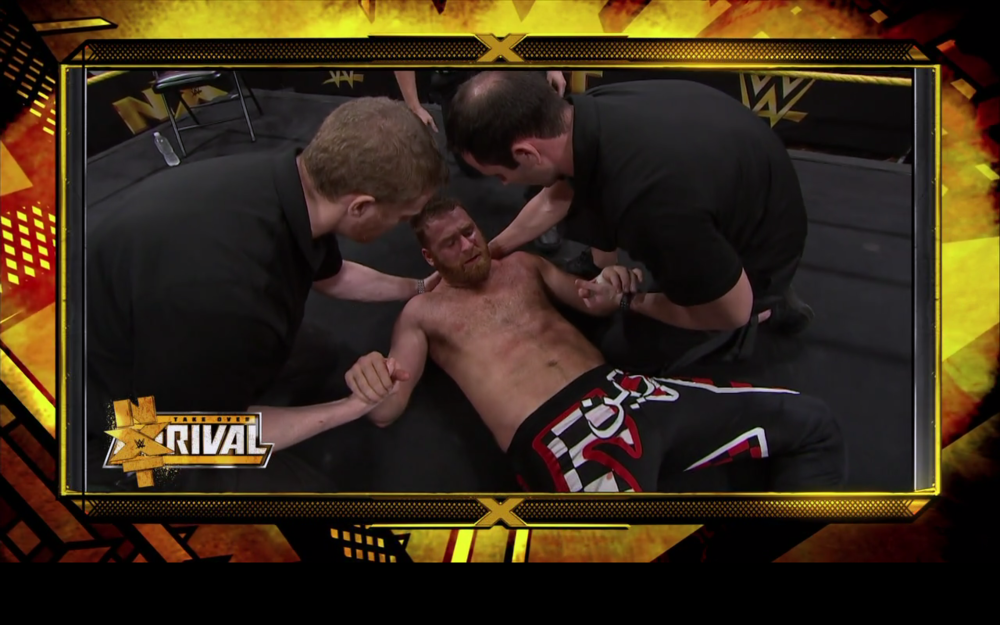 SAMI ZAYN FOLLOWING HIS CHAMPIONSHIP MATCH WITH KEVIN OWESN AT TAKE OVER.