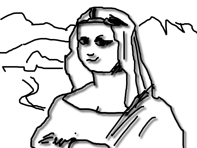 My interpretation of The Mona Lisa.