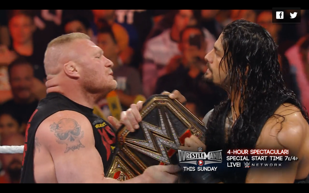 Brock Lesnar & Roman Reigns.