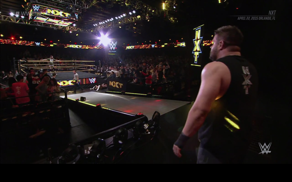 Sami Zayn and Kevin Owens break apart.