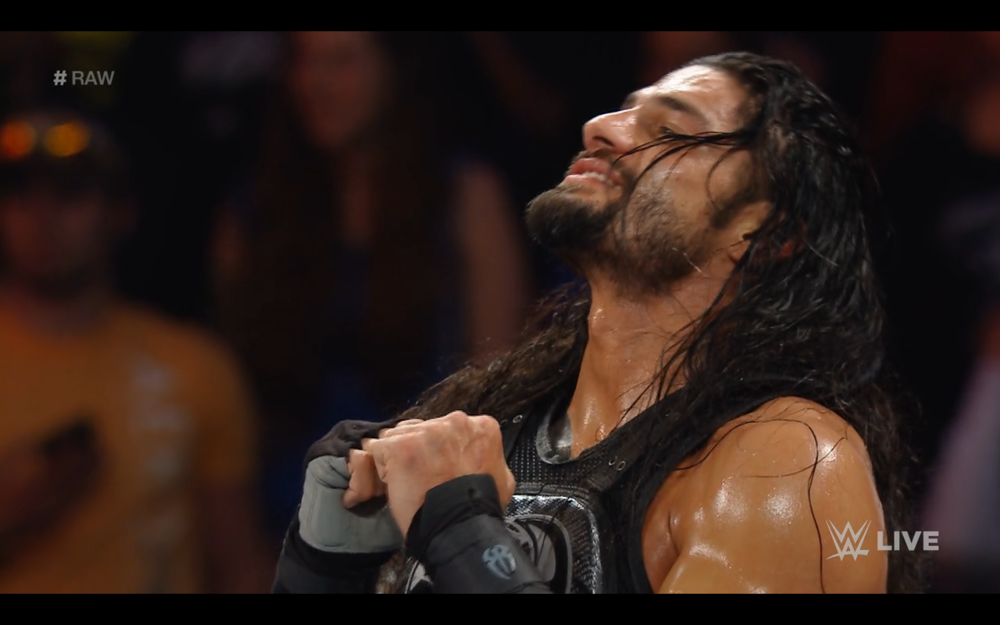 Roman Reigns reacts to finding out he's in the main event of Payback.