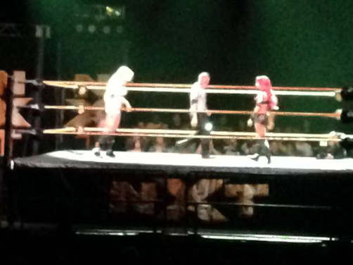 Ms. Charlotte on the left, Sasha Banks on the right.