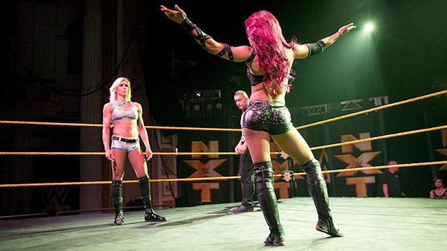 Sasha Banks vs Ms. Charlotte.