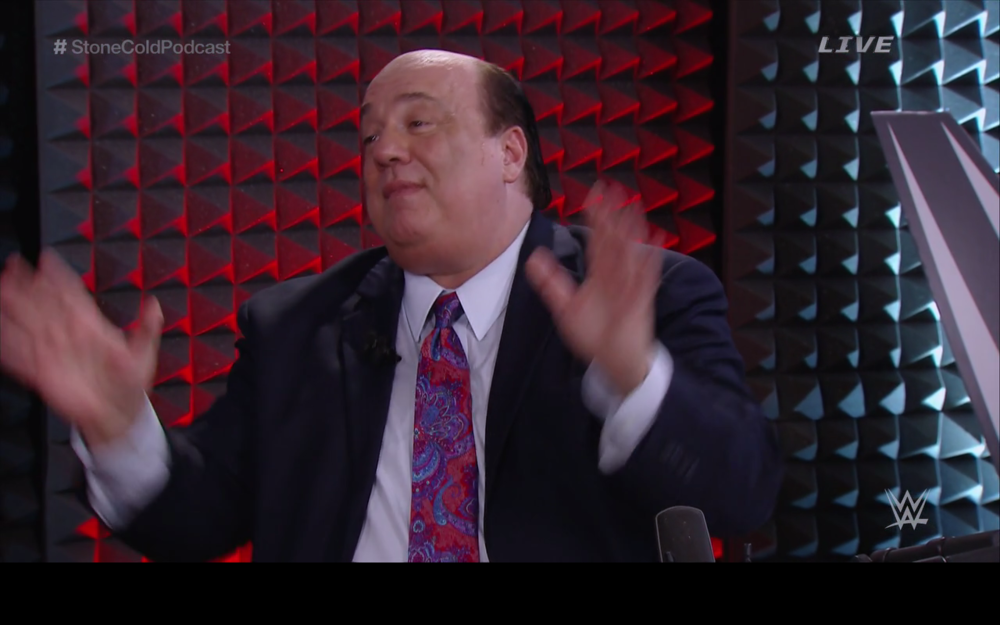 "Paul Heyman says, ""I'm just an advocate!"""