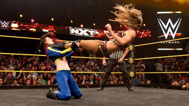 Emma kicks Leva Bates/Blue Pants.