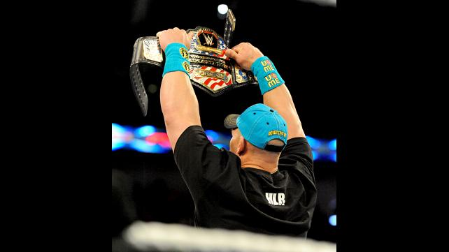 John Cena raises The United States Championship