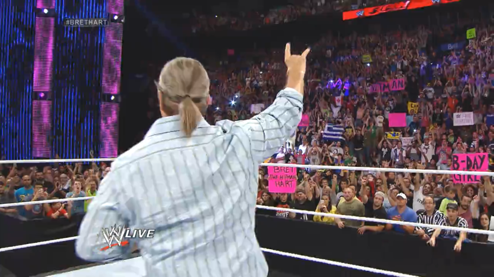 Bret Hart introduced Sami Zayn earlier this year in 2015 in a muchmore powerful moment.