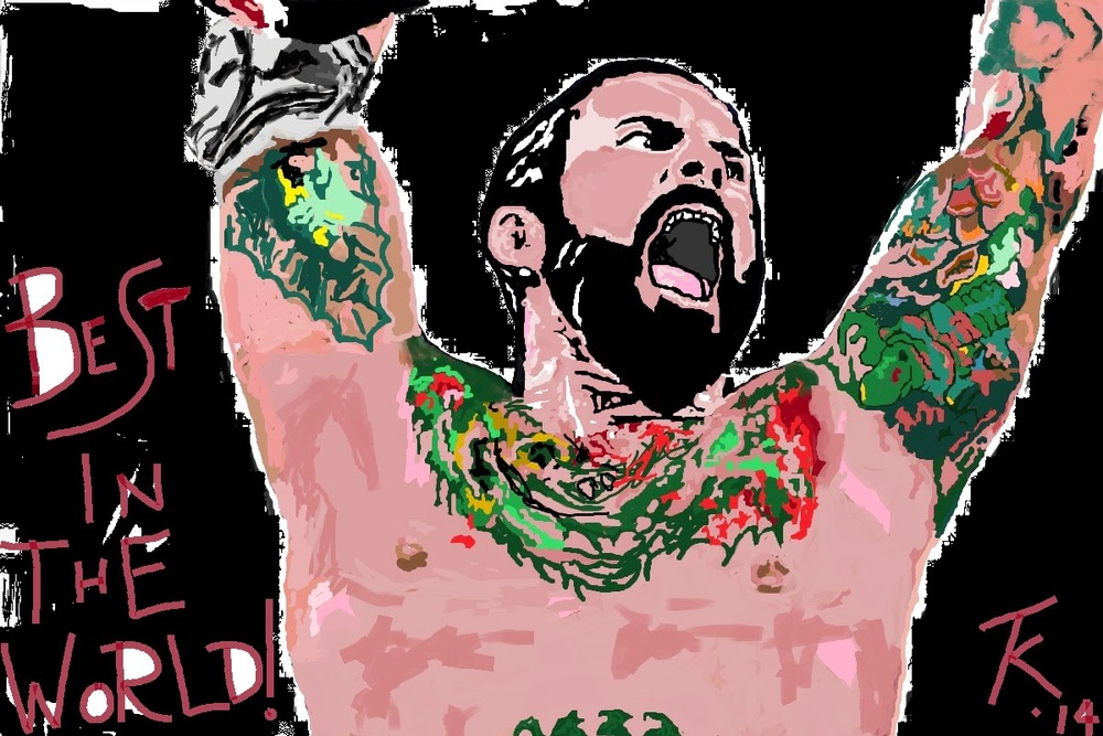 I used to end every single RAW REVIEW with a reference to CM Punk and this picture because I was such a huge fan of his.