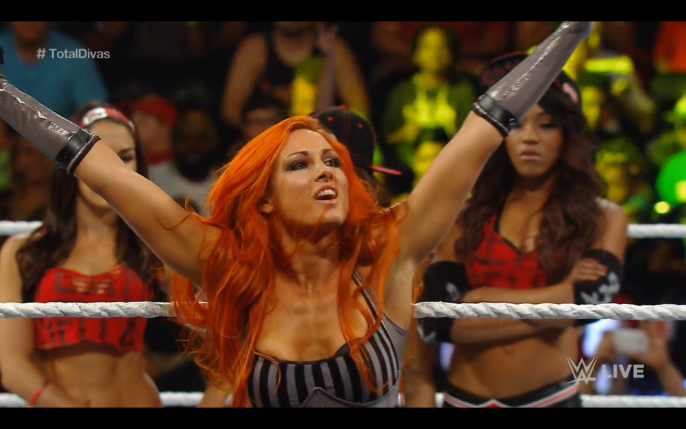 Becky Lynch is on Monday Night Raw.