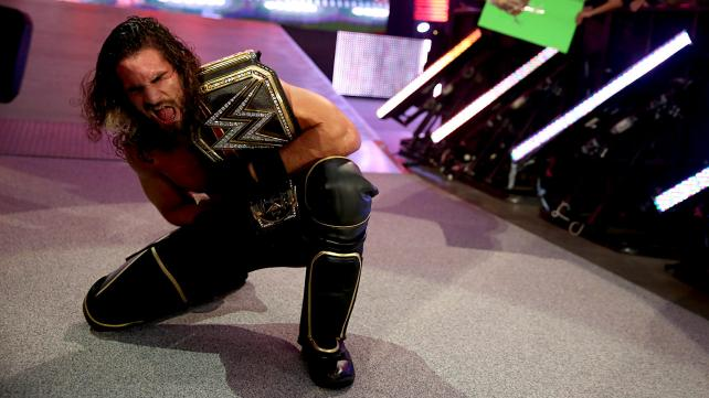 Seth Rollins successfully defended his title against Adrian Neville.