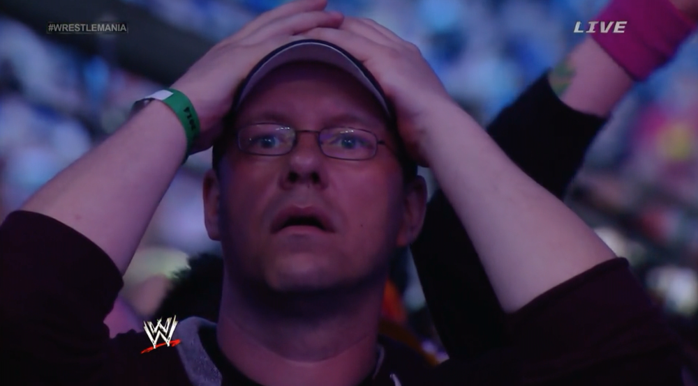 Fans react to The Undertaker's defeat at WrestleMania 30.