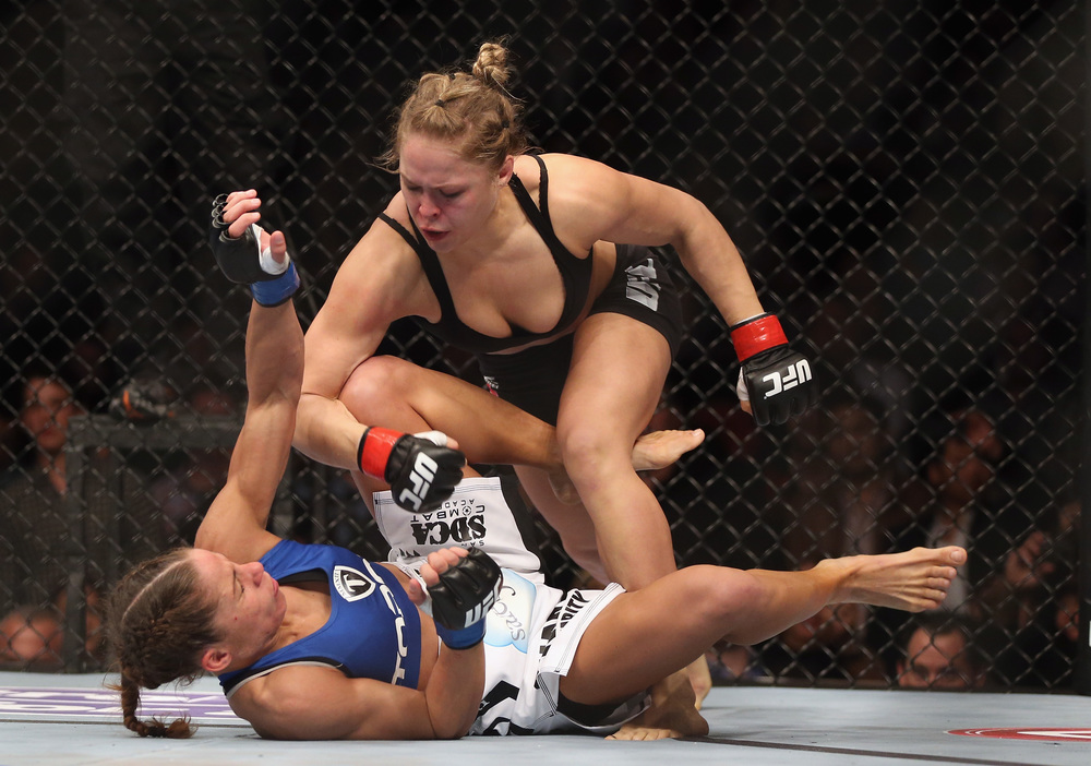 Current UFC Bantamweight Women's Champion Ronda Rousey