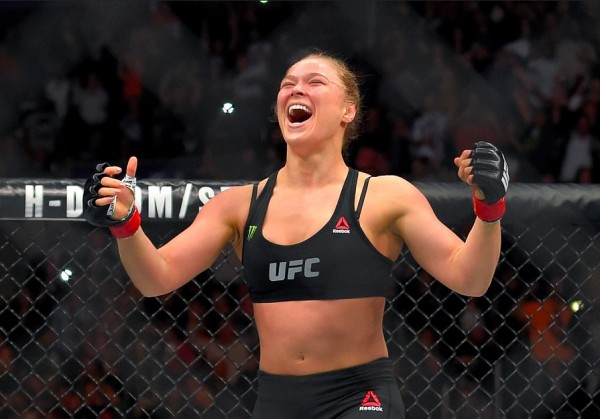 Ronda Rousey. Victorious.