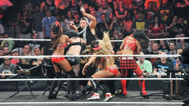 The ladies attack each other and The Miz.