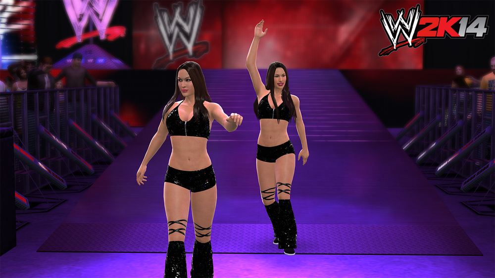 WWE 2K14 Bella Twins.