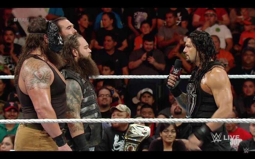 Roman Reigns addresses Bray Wyatt.