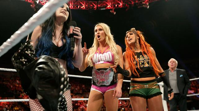 Paige cuts a promo on the Divas roster.