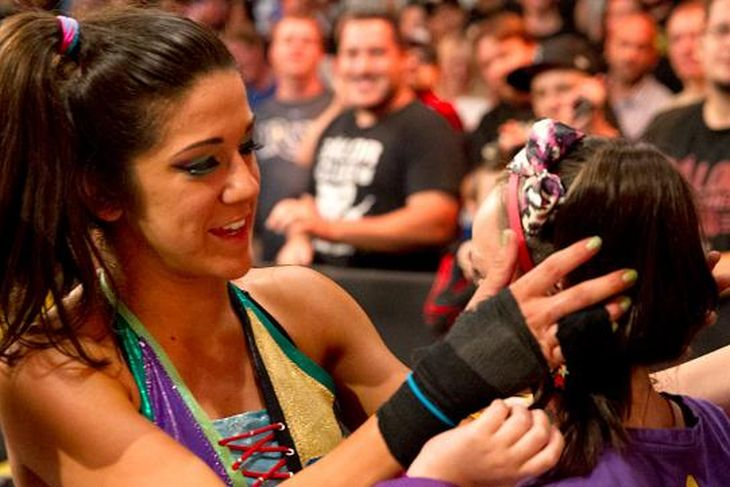 Bayley and her super-fan Izzy.
