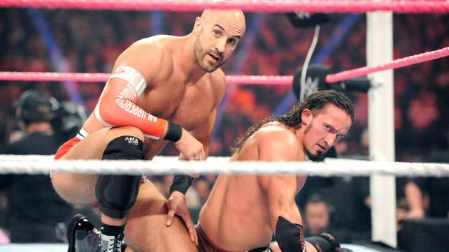 Antonio Cesaro and Adrian Neville - now Cesaro & Neville lost in the midcard oblivion.