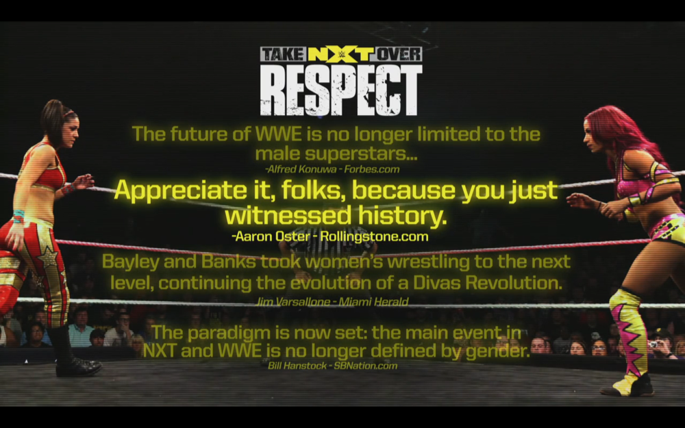 None of this is true on the main roster and yet this was a main roster advertisement.