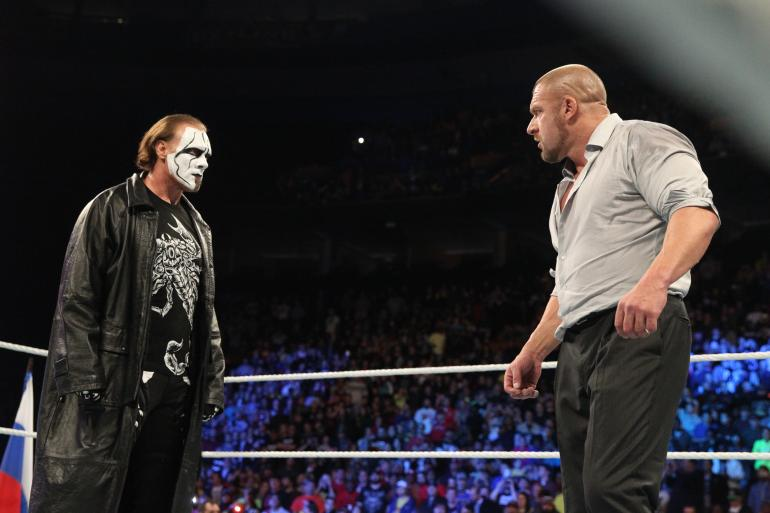 To this day there remains no narrative justification for Sting's presence in the WWE.
