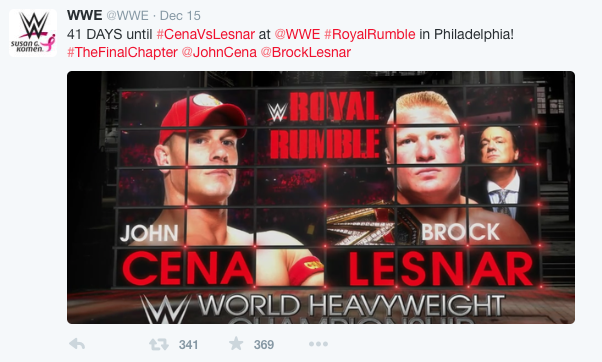 From the WWE's own Twitter back in December 15th. They booked the match and then altered it halfway through a triple threat including Seth Rollins despite Seth already carrying The Money in the Bank contract.