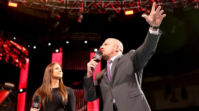 Triple H on Monday Night Raw.