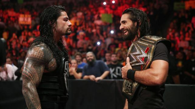 Roman Reigns vs Seth Rollins for the WWE World Heavyweight Championship at Survivor Series.