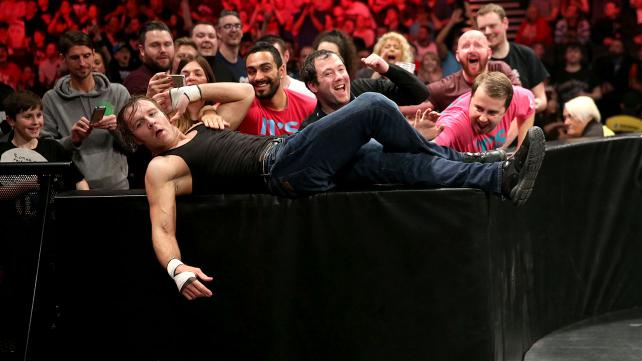 DEAN AMBROSE MOCKS TYLER BREEZE.