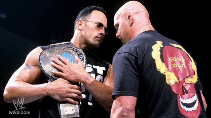 THE ROCK AND STEVE AUSTIN via www.betweentheropes.com