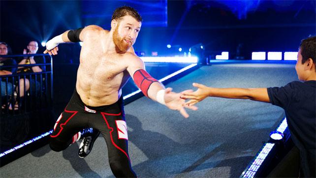 SAMI ZAYN HIGH FIVES A FAN IN NXT VIA www.wwe.com