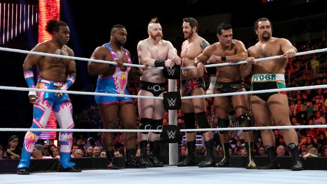 THE LEGION OF DOOM IN A SEVEN VS FOUR MAIN EVENT TAG MATCH PHOTO VIA WWE